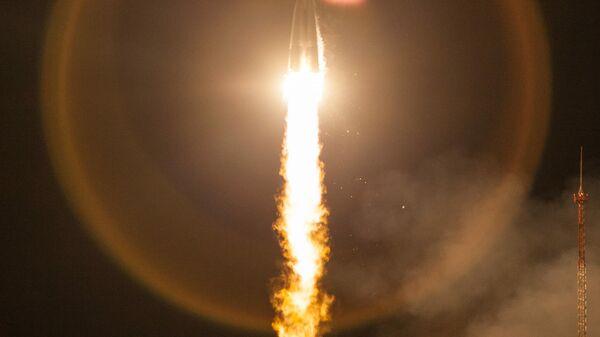 Пуск ракеты-носителя Союз-2.1б с разгонным блоком Фрегат