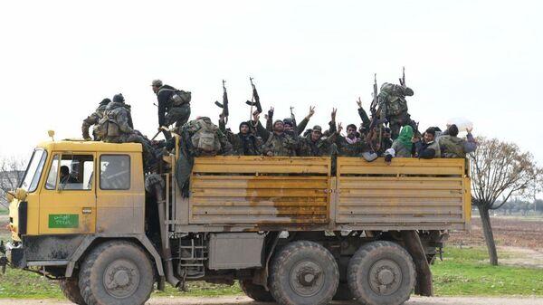 Подразделения сирийской армии в провинции Идлиб