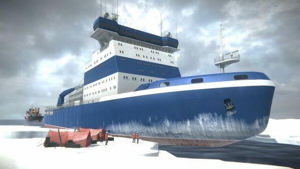 Как это устроено: атомный ледокол Арктика. AR-реконструкция