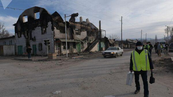 Поселок Масанчи на юге Казахстана после массовых беспорядков