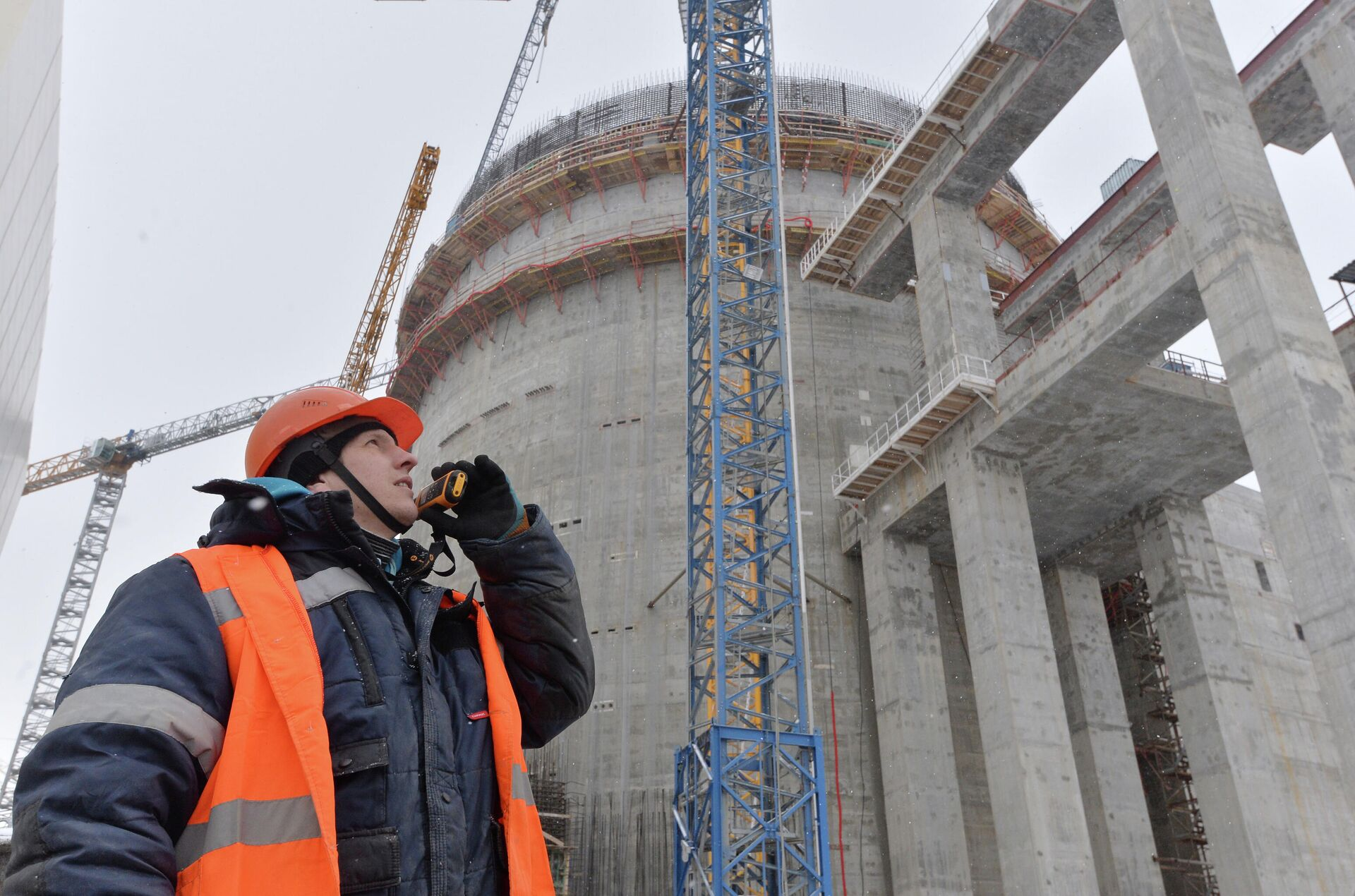 Строительство Белорусской АЭС - РИА Новости, 1920, 06.11.2020