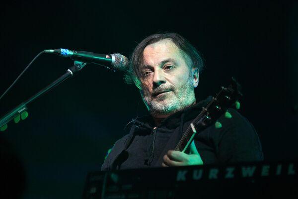 Участник группы Агата Кристи Вадим Самойлов на XIII-ом ежегодном музыкальном фестивале Чартова дюжина