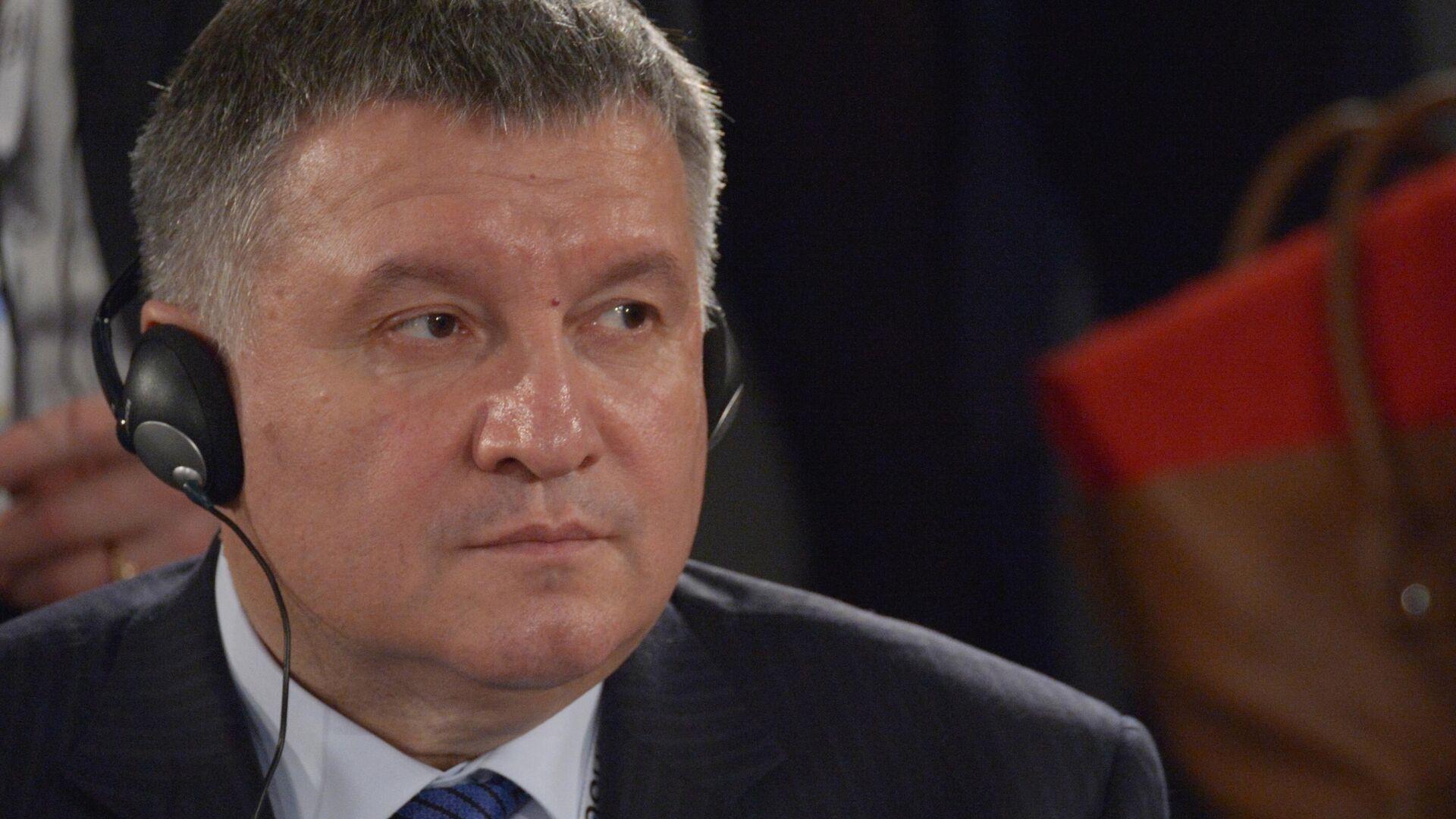 Министр внутренних дел Украины Арсен Аваков на Мюнхенской конференции по безопасности в Мюнхене - РИА Новости, 1920, 01.03.2021