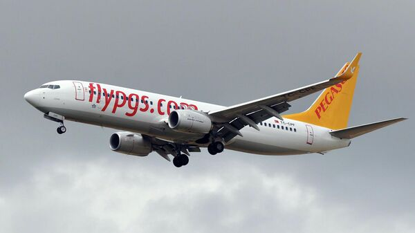 Самолет турецкой авиакомпании Pegasus Airlines