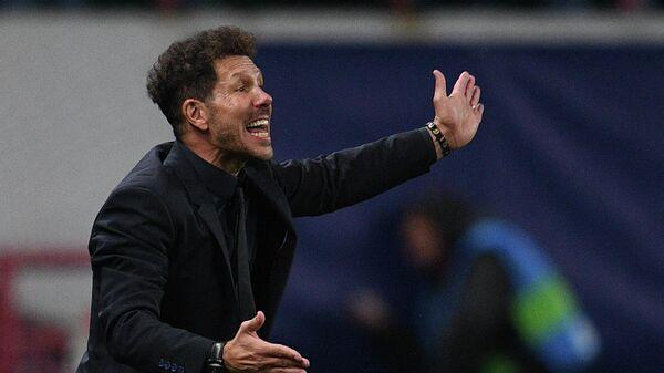 Главный тренер Атлетико (Мадрид) Диего Симеоне