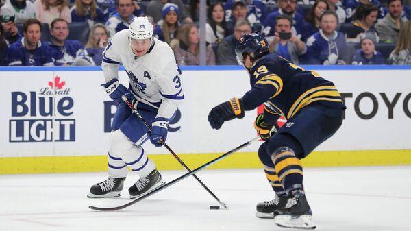 Игровой момент матча НХЛ Торонто Мейпл Лифс - Баффало Сейбрз