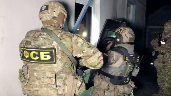 Сотрудники ФСБ во время спецоперации