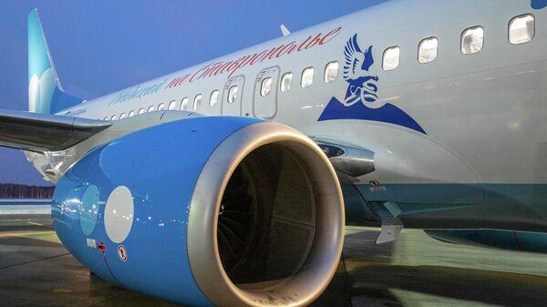 Победа разместила рекламу курортов Ставрополья на фюзеляже самолета