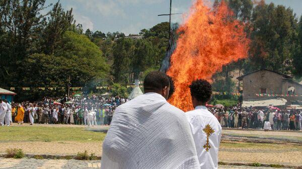 Праздник Мескель в Аксуме. Эфиопия
