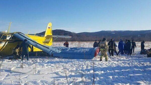 Место жесткой посадки самолета Ан-2 в Магадане