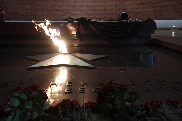 Профилактическая проверка Вечного огня в Александровском саду