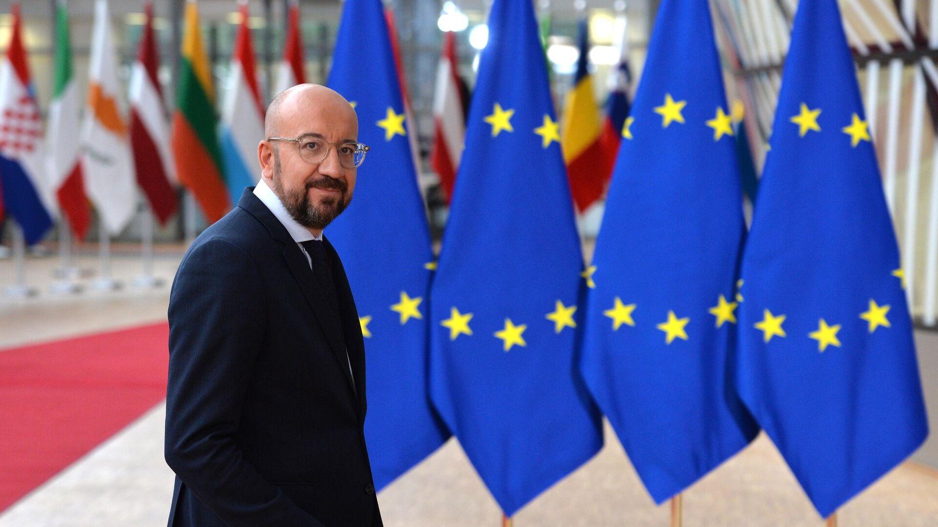 Президент Европейского совета Шарль Мишель на саммите ЕС в Брюсселе - РИА Новости, 1920, 07.06.2021