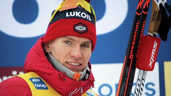 Четырехкратный олимпийский призер российский лыжник Александр Большунов