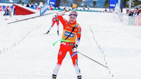Норвежская лыжница Тереза Йохёуг