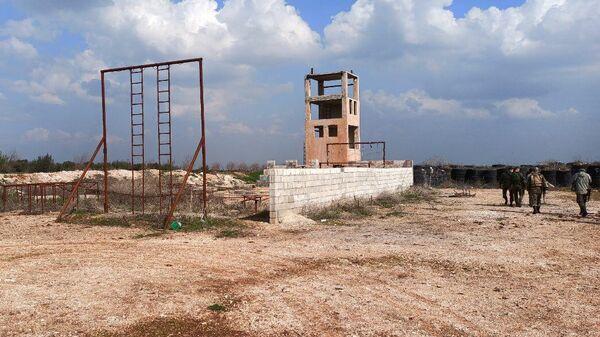 Освобожденный от боевиков город Эбла в Сирии