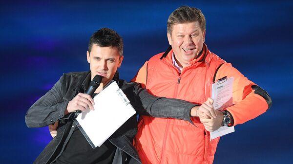 Дмитрий Губерниев (справа) и Максим Траньков