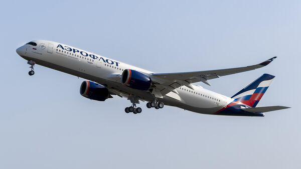 Пассажирский самолет Airbus A350-900 авиакомпании Аэрофлот