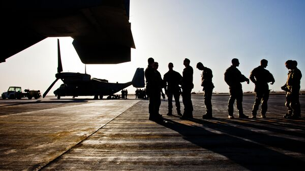 Военнослужащие НАТО и Афганистана на военной базе в провинции Гильменд