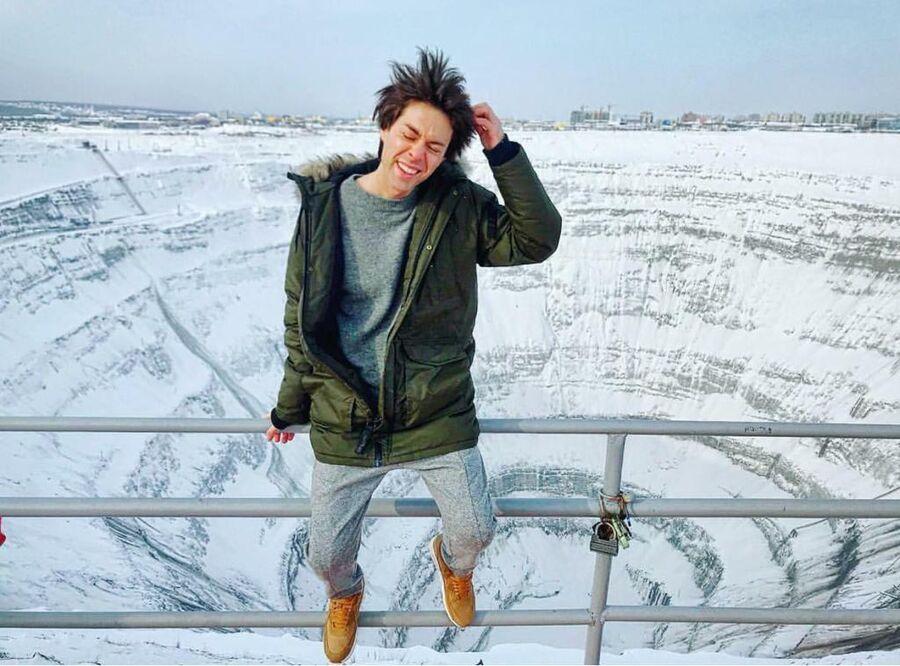 Марк Тишман в городе Мирный в Якутии