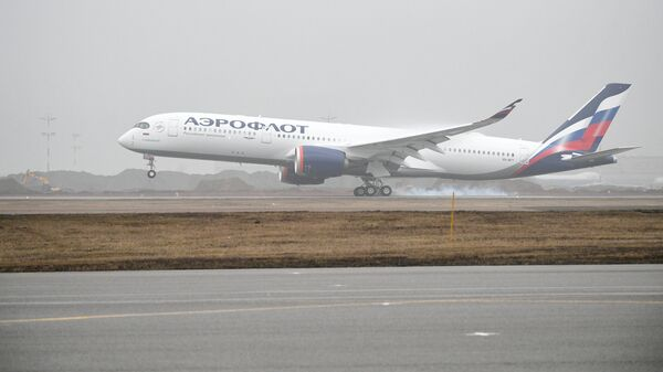 Самолет Airbus A350-900 авиакомпании Аэрофлот