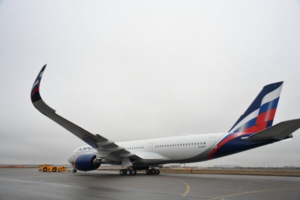 Аэрофлот презентовал первый Airbus A350