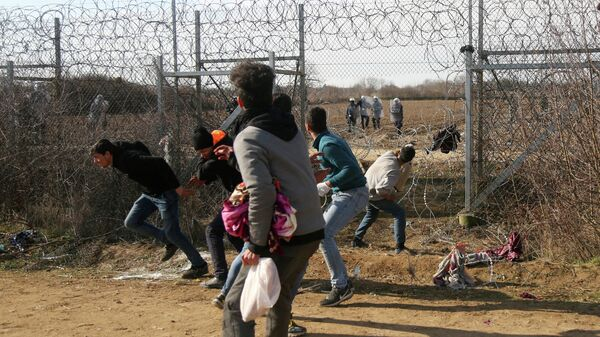 Мигранты на турецко-греческой границе