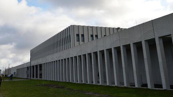 Здание комплекса правосудия Схипхол в нидерландском Бадхоеведорпе