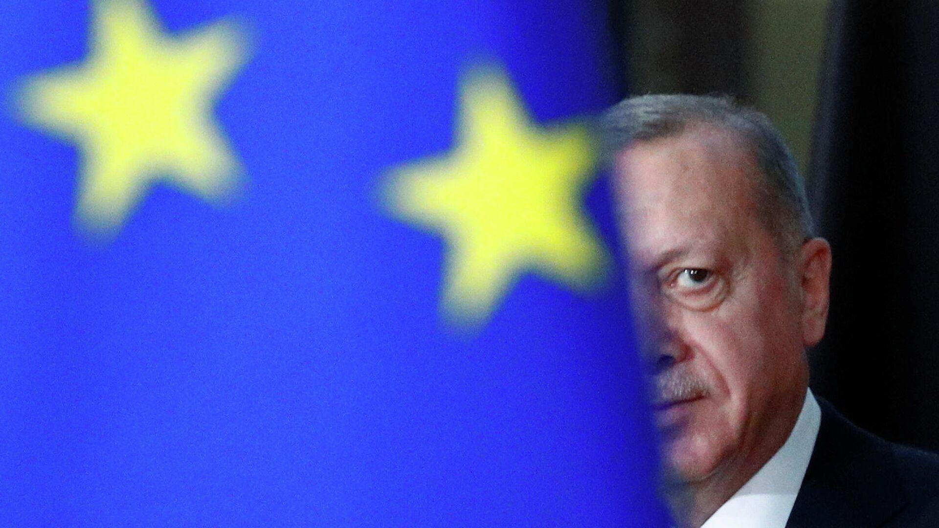 Президент Турции Реджеп Тайип Эрдоган в Брюсселе  - РИА Новости, 1920, 10.01.2021