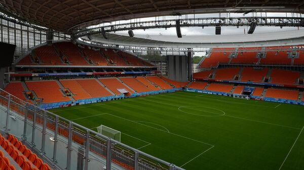 Трибуны Центрального стадиона Екатеринбург-Арена.
