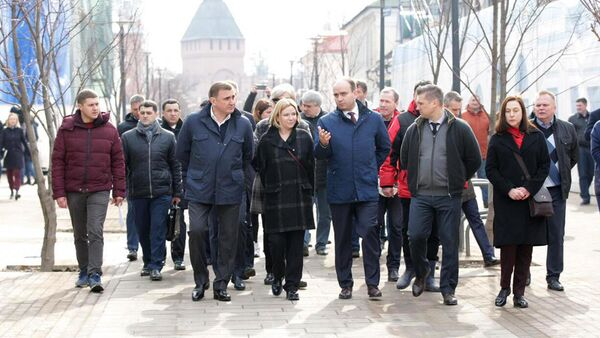Министр культуры РФ Ольга Любимова во время посещения Музейного квартала в Туле