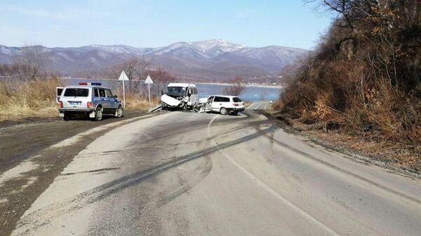 ДТП с участием автобуса в Лазовском районе Приморского края. 17 марта 2020