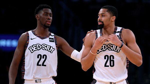 Баскетболисты клуба НБА Бруклин Нетс