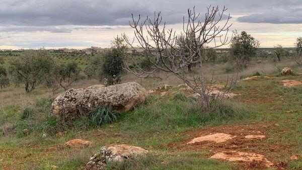 Место гибели летчика Романа Филипова в Сирии