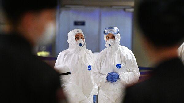 Медицинские работники в аэропорту Внуково