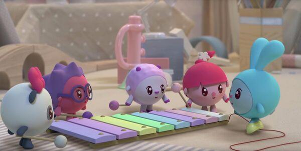 Кадр из мультсериала Малышарики
