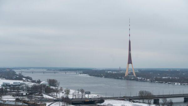 Вид на телевизионную башню Риги