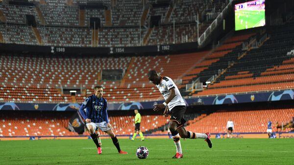 Игровой момент матча Аталанта - Валенсия