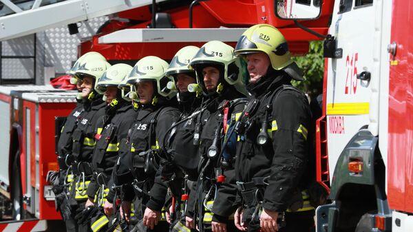 Учения в пожарно-спасательном центре
