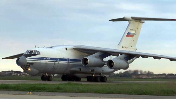 В Италию вылетел пятнадцатый российский военный самолет
