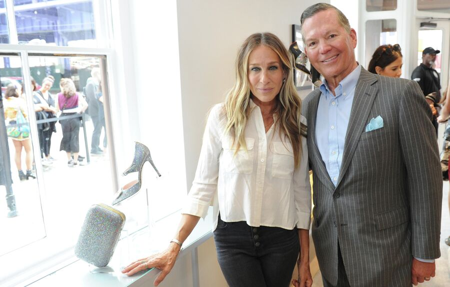 Сара Джессика Паркер и Джордж Малкемус на открытии магазина SJP by Sarah Jessica Parker в Нью-Йорке