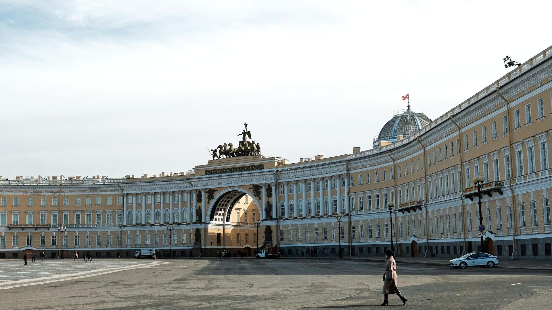 Дворцовая площадь в Санкт-Петербурге - РИА Новости, 1920, 07.02.2021