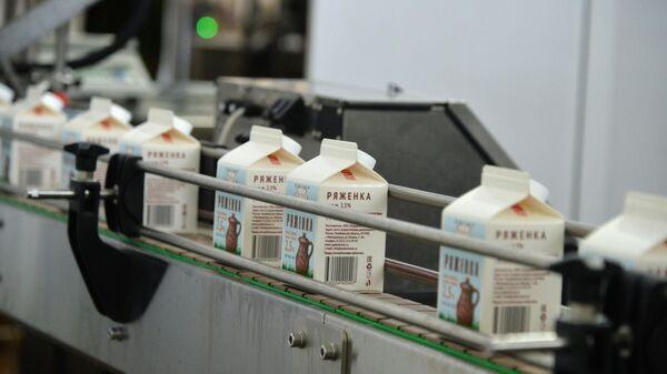 Линия производства молочного завода