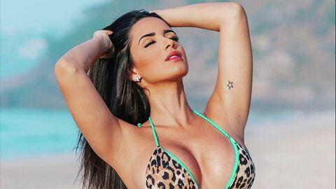 Девушка футболиста Дугласа Косты, бразильская модель Наталья Феликс