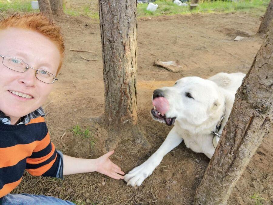 Джи Васильева с собакой