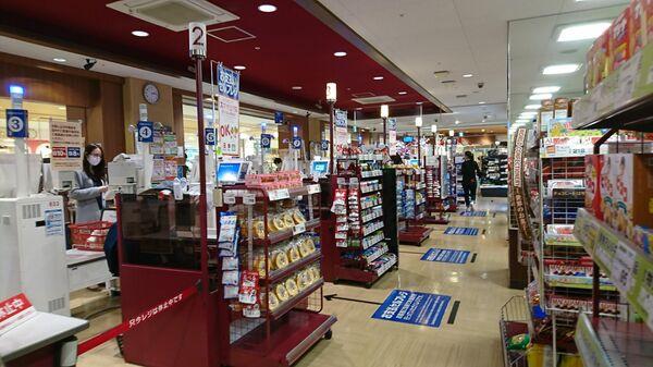 Кассы в продуктовом магазине в Токио