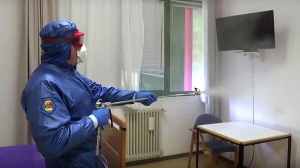 Российские военные продезинфицировали пансионат для пожилых людей в пригороде Бергамо