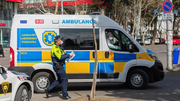 Машина медицинской скорой помощи в Грузии