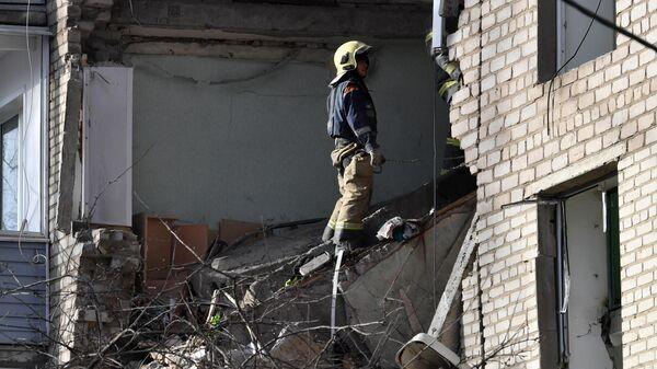 Поврежденный, в результате взрыва бытового газа, жилой дом в Орехово-Зуево