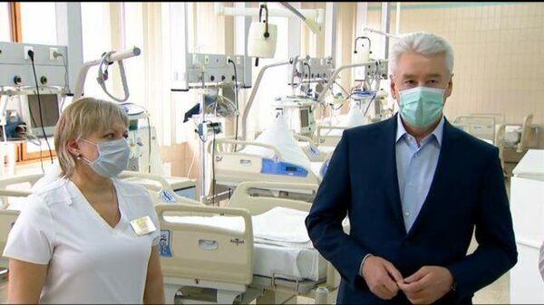 Открытие коронавирусного стационара на базе Госпиталя ветеранов войн