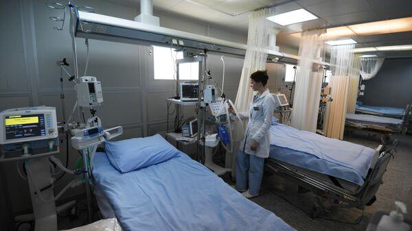 Палата интенсивной терапии в клинической больнице РЖД-Медицина имени Н. А. Семашко в Москве